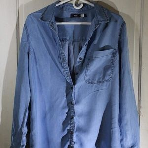 BDG Long Sleeve Chambray Shirt